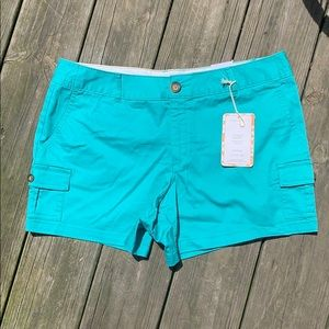 NWT Dockers size 12p teal green shorts